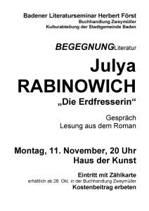 Rabinowich Plakat