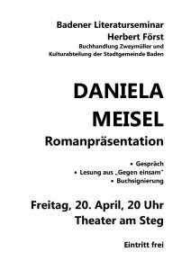 Daniela Meisel Plakat 2012