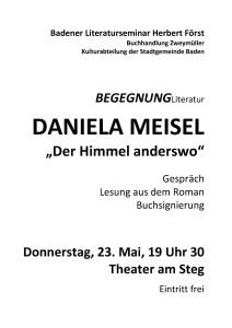 Daniela Meisel Plakat 2013