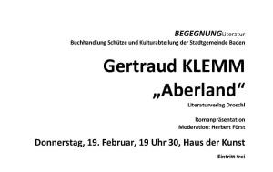 Gertraud Klemm ABERLAND Flyer