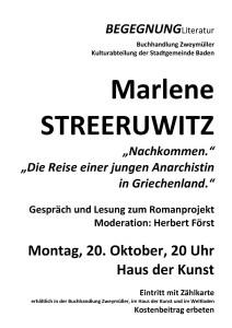 Marlene Streeruwitz Nachkommen Plakat